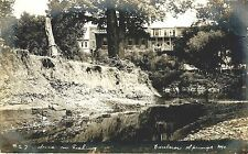 EXCELSIOR SPRINGS MISSOURI VIEW OF HOTEL AND FISHING RIVER