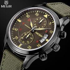Leather Stainless Steel MEGIR Men's Quartz Watch Band Watch Chronograph Gifts