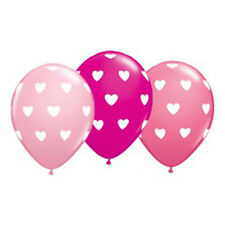 Party Supplies Wedding Birthday Big Heart Pink  Wildberry Balloons Pack of 10