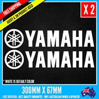 2 x YAMAHA LOGO Sticker JDM Vinyl Funny Dope Window Laptop Motorcycle 300mm