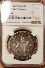 1971 Canada Dollar, NGC graded SP67, Brilliant, Lustrous w/ Blues-Greens-Golds