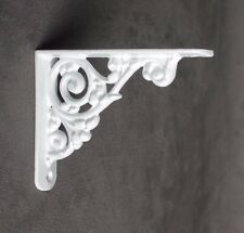 "Pair White 5x4"" ANTIQUE HEAVY CAST IRON ART NOUVEAU SHELF WALL BRACKETS BR26wx2"