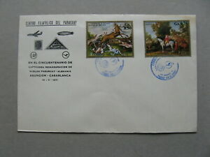 PARAGUAY, cover FFC 1971, Asuncion - Casablanca stamps hunting dog deer horse