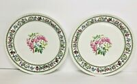 Portmeirion Variations  Bleeding Heart   Dinner Plates Set Of 2