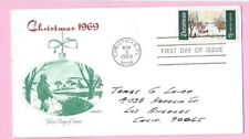 USA 1969 Artmaster FDC - CHRISTMAS - Cds CHRISTMAS, FL & FIRST DAY Slogan