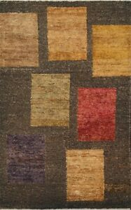 5'x8' Geometric Contemporary Oriental Area Rug Hand-knotted Modern Foyer Carpet
