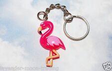 PINK FLAMINGO BIRD KEYRING/Keychain/bag charm/gift