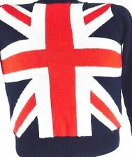 Union Jack Sweater Mod Punk Sex Pistols The Clash Oasis Blur The Beatles Stones