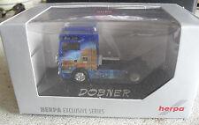 RARE Herpa HO 1/87 MAN TGA XXL ZM Blue Lion Dobner Tractor Trailer Truck Cab NIP