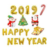 2019 Happy New Year Foil Balloons Merry Christmas Banner BALLON Home Decor @MG