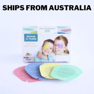 Kids Eye Gear Adhesive Eye Patches for Kids Lazy Eye MEDIUM MIXED Box 50 RBGY