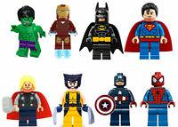 8 PCS MARVEL AVENGER SUPER HEROES FIT LEGO MINI FIGURE THOR HULK BATMAN SUPERMAN