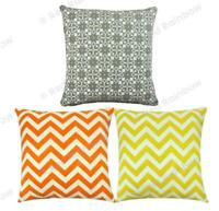 "Thick Chenille Geometric Cushion Covers 17"" / 43 cm SALE PRICE RRP £7"