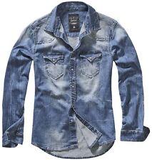 Brandit Herren Hemd Riley Denim Jeanshemd Shirt S M L XL XXL 3XL 4XL 5XL NEU