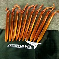 10Pcs 18cm Aluminum Alloy Outdoor Camping Trip Tent Peg Ground Nail Stakes Tri