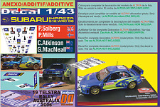 ANEXO DECAL 1/43 SUBARU IMPREZA SOLBERG & ATKINSON AUSTRALIA 2006 2nd & 9th (01)