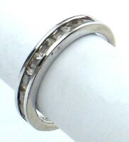 Vintage Women Ladies Size 7 US Cubic Zirconia Stones Sterling Silver Ring G858