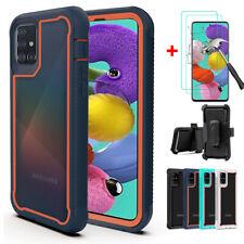 For Samsung Galaxy A51 A71 Case Kickstand Belt Clip Cover / HD Screen Protector