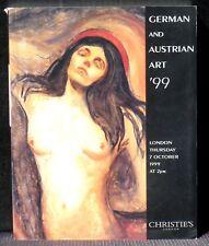 Catalogue Christie's German and austrian art 99 Très bon état