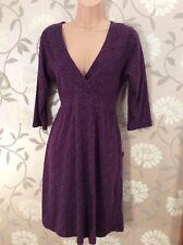 Amari Tunic Dress Size 12 Purple Super Soft Cotton Jersey