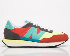 New balance 237 Hombre Gris Naranja bajo Casuales Atléticas Zapatos Zapatillas de estilo de vida