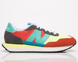 New Balance 237 Men's Grey Orange Low Casual Athletic Lifestyle Sneakers Shoes