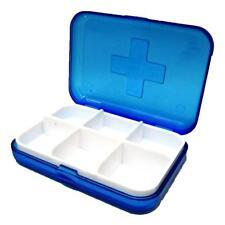 PILL BOX MEDICINE TABLET HOLDER DISPENSER ORGANIZER PILLS HOLDERS POCKET BLUE