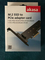 Akasa M.2 SSD to PCIe Adapter Card NVMe/AHCI Compatible - (AK-PCCM2P-01)