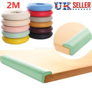 2M Kids Safety Foam Rubber Bumper Strip Safety Table Edge Corner Protector UK