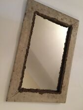 Antique Distressed Painted Wood Mirror