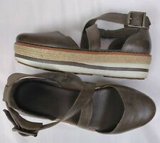 Timberland Women's Emerson Olive Green Leather Point Closed Toe Sandals 6.5M