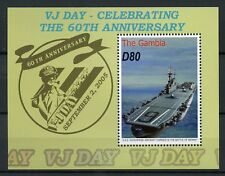 Gambia 2005 MNH WWII WW2 VJ Day 60th Ann Aircraft Carrier 1v S/S Ships Stamps
