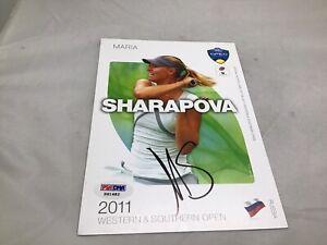 Maria Sharapova Signed 2011 W&S 5x7 Player Card Autographed PSA/DNA COA 1A