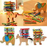 Baby Kid Educational Toys Wooden Blocks Balance Game Montessori Children Toys W