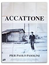 Affiche 120x160cm ACCATONE (ACCATTONE) 1961 Pier Paolo Pasolini - R90s NEUVE #