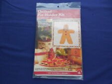 Quilted Pot Holder Kit for Paper Piecing Christmas Gingerbread Man