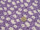 FULL Vintage feedsack: opened,  White Flowers on Purple