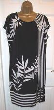 LADIES WALLIS DRESS Size Medium M Black & white Floral Palm Tunic Dress RRP £42