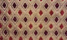 "Chenille Upholstery Pasadena Burgundy Diamond Drapery Fabric By The Yard 56"""
