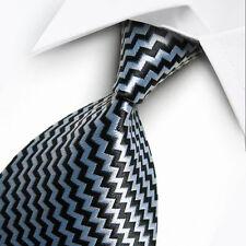 Cravatte e papillon Foulard DA COLLO ascot Nero & Grigio Ardesia Paisley con corrispondenti Hanky. Abbigliamento e accessori