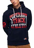 Superdry Track & Field Logo Overhead Hoodie Sweatshirt Hooded Top Rich Navy