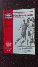 Porthmadog Teams O-R Football Non-League Fixture Programmes