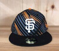 NEW ERA SAN FRANCISCO GIANTS FITTED HAT BASEBALL CAP 59FIFTY BLACK MEN SZ 7-8
