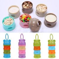 3Layer Milk Powder Formula Dispenser Box Baby Food Fruit Container Bottle Holder