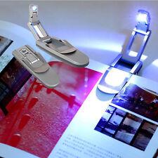 Brand New Mini Portable Robotic LED Clip On Reading Book Light Booklight Lamp