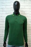 Polo Manica Lunga FRED PERRY Taglia 38 97 cm ( S ) Maglia Camicia Shirt Man Slim