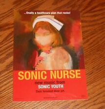 Sonic Nurse Sonic Youth Card Handbill Original Promo 7x5