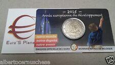 Coin card 2 euro 2015 BELGIO Belgique Belgica Belgie Belgium tipo notre monde FR