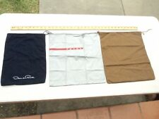 Lot of 3 Authentic Dust bags Oscar de la Renta, Prada, and Gucci Made in Italy