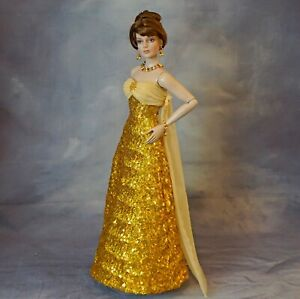 "Gold Sequin Ball Gown 16"" Fashion Dolls Tonner Antoinette JAMIEshow RTB-101"